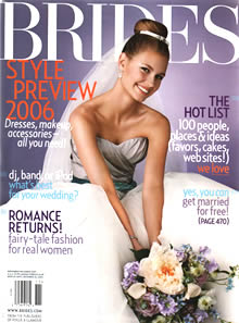 Brides magazine cover, Dec 2005.