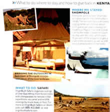 What to do, where to stay and how to give back in KENYA.